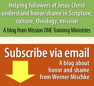 Subscribe to blog about honor/shame in Scripture, culture, theology, mission